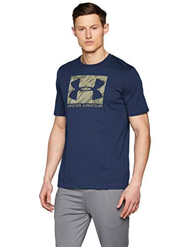 Under Armour UA Boxed Sportstyle SS Camiseta, Hombre, Azul (Academy/Rifle Green 409), M