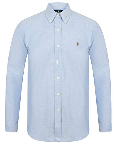 Ralph Lauren Slim Fit Hemd - Rot/Weiß/Blau (Blau, M)