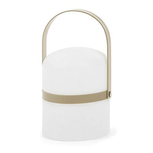 Kave Home - Lámpara de sobremesa Ridley blanca regulable de polipropileno y asa de plástico
