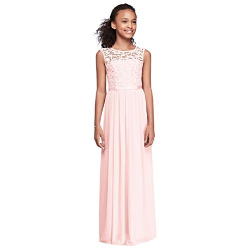 Cap Sleeve Lace and Mesh Long Girls Dress Style JB9479, Petal, 10