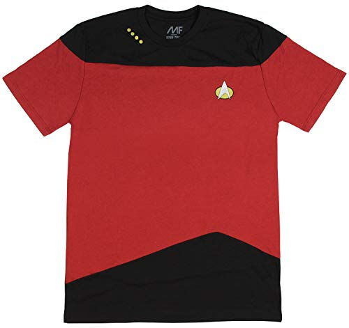 Star Trek: The Next Generation Uniform Adult T-Shirt - Command Red (Large)