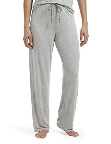HUE Women's Plus Size SleepWell with TempTech Pajama Sleep Pant, Light Grey Heather, 2X