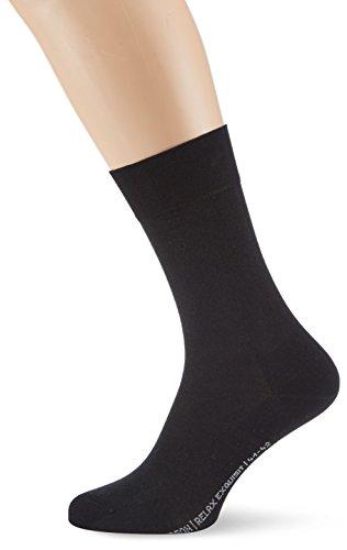 Hudson Herren Socken, 004211 Relax Exquisit, Gr. 45/46, Schwarz (Black 0005)