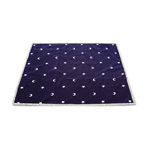 Tapis Bleu 80 X 80 Cm - Lunes et Etoiles