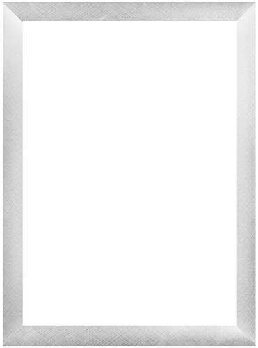 EUROLine35 mm Bilderrahmen für 86 x 35 cm Bilder, Farbe: Alu Criss Cross, inkl. entspiegeltem Acrylglas und MDF Rückwand, Rahmen Breite: 35 mm, Außenmaß: 91,8 x 40,8 cm
