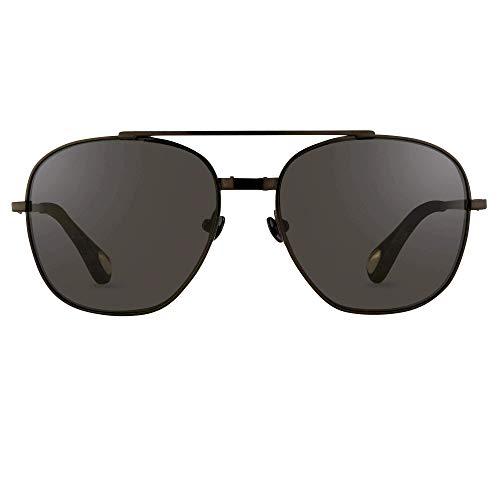 Occhiali da Sole Linda Farrow ANN DEMEULEMEESTER 12 BLACK Black/Grey 53/15/140 uomo