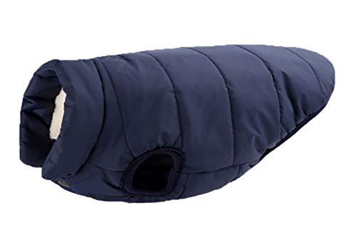 Sunnykud - Abrigo para perros, chaqueta para invierno, resistente al viento, chaqueta para perro con arnés, agujero para perros, abrigo, chaqueta, chaleco para perros pequeños, medianos y grandes