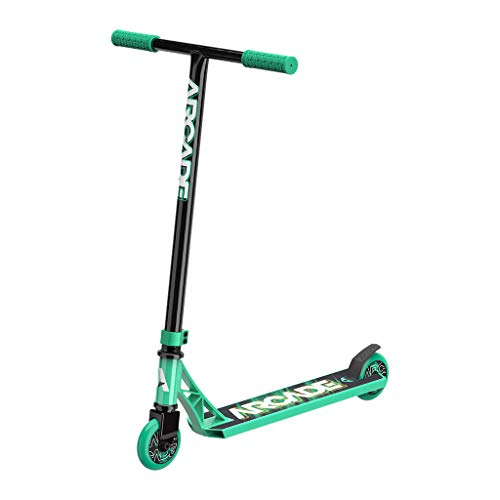 Arcade Rogue Pro Scooters for Kids 8 Years and Up (6 - 12 Years Old) – Beginner Kick Scooter / Stunt Scooter for Kids Freestyle, School Commute or Learn Trick Scooter Moves (Teal)