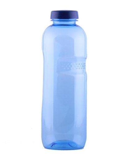 """Trinkwasserflasche aus Tritan 1 Liter, 7er SET, mit """"Blüte des Lebens"""" - Symbol Aufdruck auf dem Trinkdeckel, Flasche gibt keine Schadstoffe ab (FDA Zulassung), und ist hervorragend geeignet um gefiltertes Wasser aufzubewahren; große Öffnung (4cm), s"""