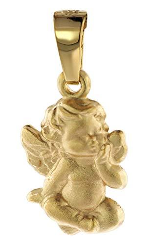 trendor Engel Kinder-Anhänger Gold 585 liebevoller Goldanhänger für Mädchen oder Jungen, Engelanhänger für Kids, toller Goldschmuck 08801
