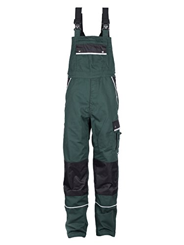 TMG® Arbeitslatzhose Herren, Lange Arbeitshose mit Latz und Kniepolstertaschen