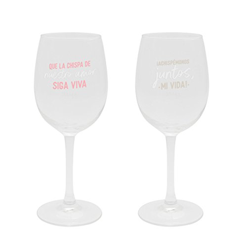 Mr Wonderful Woa08920Es Set De 2 Copas De Vino Para Brindar (Y Lo Que Surja), Multicolor