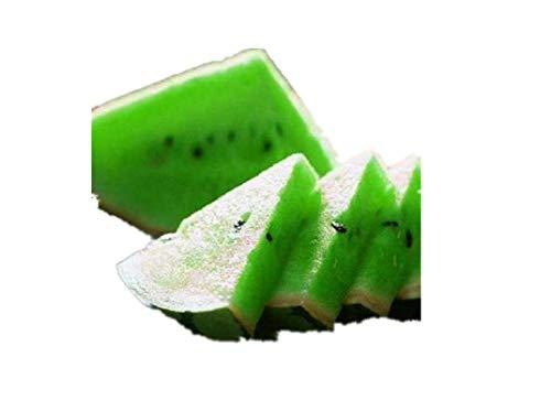 KINGDUO Egrow 50Pcs/Pack Pastèque Graines Jardin Coloré Comestible Vert Jaune Blanc Pastèque Semences-Vert