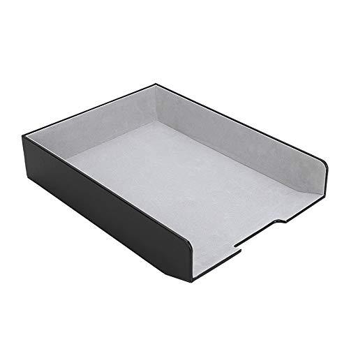 JenLn Desktop Organizer Papieraufbewahrung Briefablage Dokumentenhalter Schreibtisch File Sorter for Home Office (Color : Black, Size : 33x24.2x6.6cm)