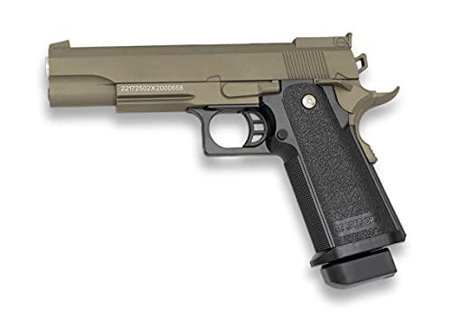 Tiendas LGP, Albainox 38342 Arma Airsoft, Pistola Aire Suave, Potencia 0,8 Julios, Munición Bolas PVC 6 mm.