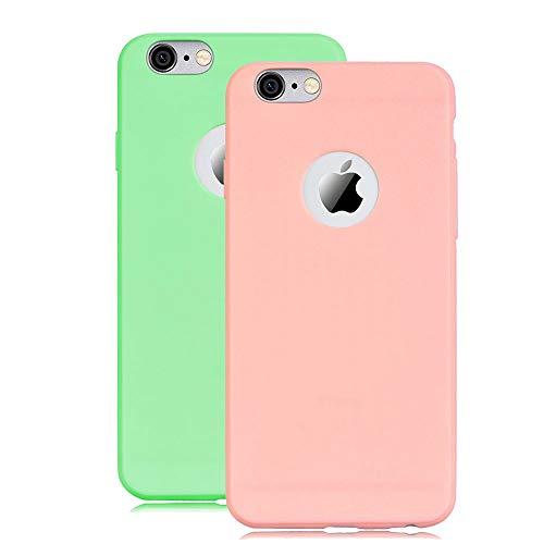 XCYYOO robuuste siliconen hoes TPU case voor iPhone 7/iPhone 8, iPhone 7/iPhone 8, poeder + groen.