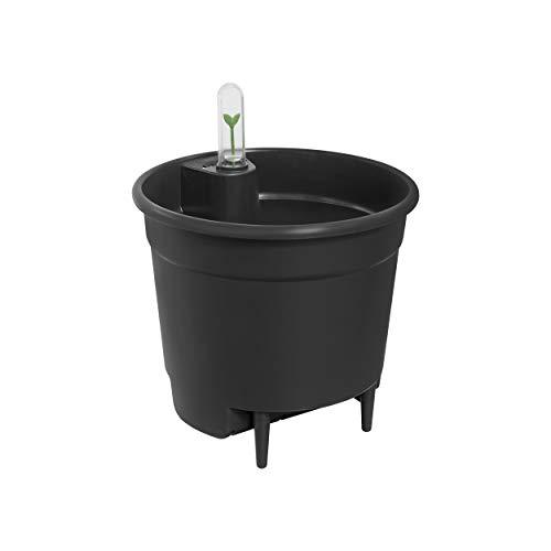 Elho Selbstbewässerungssystem Ø17 cm Sistema di Auto-irrigazione, Nero, D 17 x H 15,7 cm