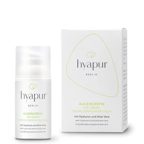 hyapur® - GREEN Augencreme 15ml - Die natürliche Augenpflege - zur Anti-Aging-Pflege mit Bio- Vegan- Natur- Kosmetik aus Berlin