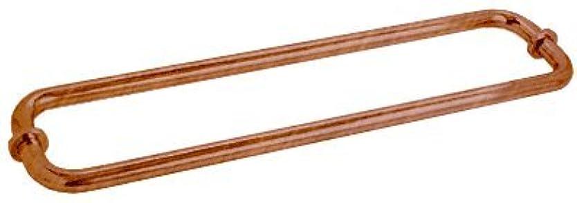 行政バターまたCRLアンティーク銅ブラシバックツーバック18インチタオルバーforガラス