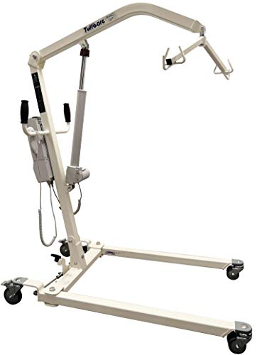 Tuffcare Electric Patient Lift - Rhino Lift with Manual Low Base - Full Size Patient Transfer Lifter for Home Use and Facilities, 450 lb. Weight Capacity (Lift Only, NO Sling)