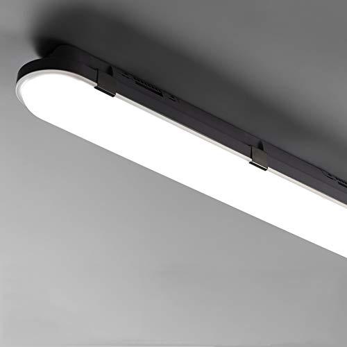 LED Feuchtraumleuchte 120CM 40W 4000LM, LED Feuchtraumlampe Kellerlampe Röhre im Reihenschaltung für Garage Keller Feuchtraum Büro Werkstatt, 4000k-4500K Tageslicht IP65 Wasserfest 1Stück
