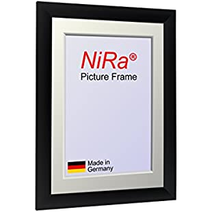 'NiRaLine' Handmade Picture Frame made to fit 72 cm x 52 cm (28.3 x 20.5 inch) picture, Colour Black Matt, made of MDF wood and Acrylic glass (Plastic glass)