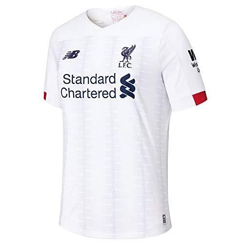 New Balance Junior International Soccer 2019-2020 Short Sleeve Jersey Liverpool F.C., Away, Large