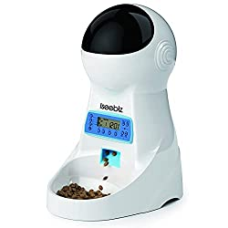 Iseebiz Automatic Cat Feeder 3L Pet Food Dispenser Feeder for Medium and Large Cat Dog