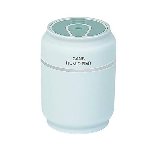 Jjoer Nebulizador para Ventilador Ventilador Portatil USB Ventilador Sin Ruido Ventiladores Nebulizadores Ventiladores Silenciosos para Dormir para Dormitorio Blue
