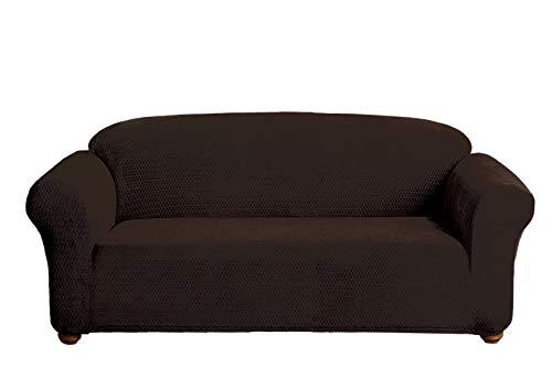 Quick Fit Hayden - Funda para sofá (Terciopelo), Color marrón, Chocolate, Sofa Cover
