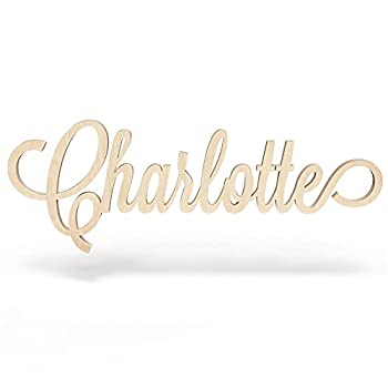 Custom Personalized Wooden Name Sign 12-55  WIDE - CHARLOTTE Font Letters Baby Name Plaque PAINTED nursery name nursery decor wooden wall art above a crib