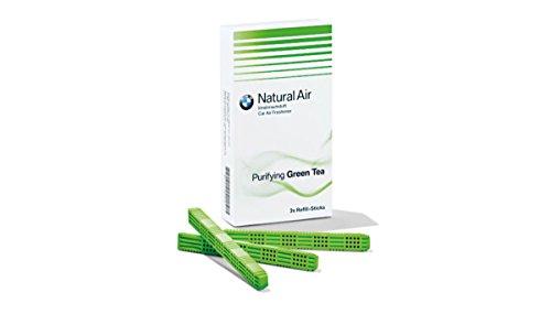 BMW Natural Air Nachfüllpackung Innenraumduft Green Tea Tonic Raindrops Amper Harmonizing Flowers Woods (Green Tea)