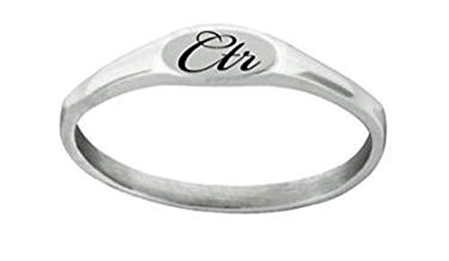 J183 Size 9 Stainless Steel PIXI CTR Ring Mormon LDS Unisex One Moment In Time