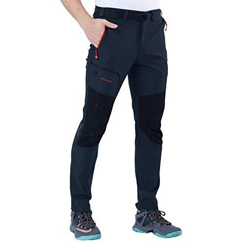SANMIO Hombre Pantalones de Trekking Impermeable Invierno Polar Forrado Hombres Pantalones Escalada Senderismo Montaña Aire Libre