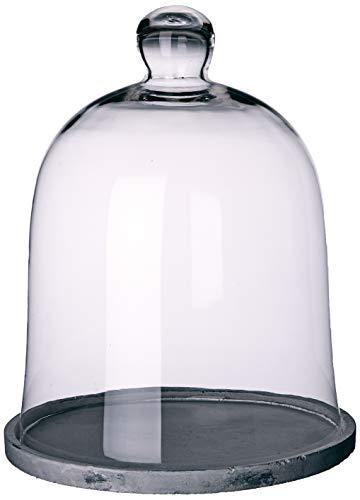 Better & Best 3001469 Fanal alto grande en cristal con base resina gris de cristal, blanco y gris