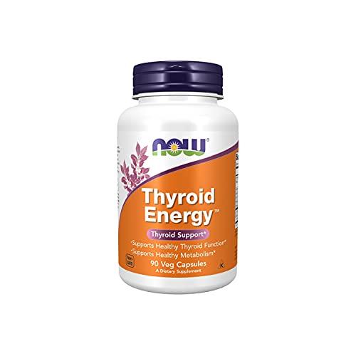 Now Foods, Thyroid Energy, 90 Capsule vegetariane, senza soia, senza glutine