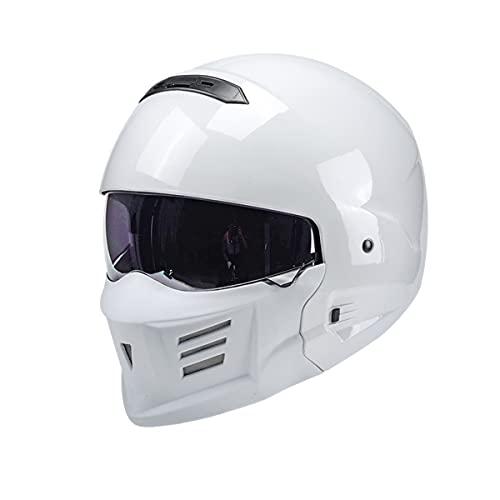 Casco de motocicleta Capacete Personalidad Combinación Full Face Casco Locomotora Medio Casco Último Modular Retro Dot 3 XXL