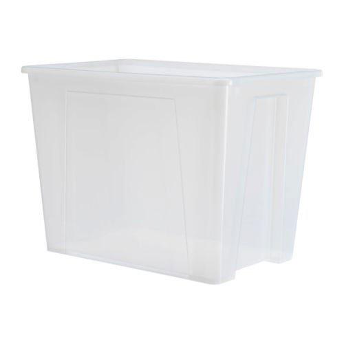 IKEA SAMLA Box 65 Liter; transparent