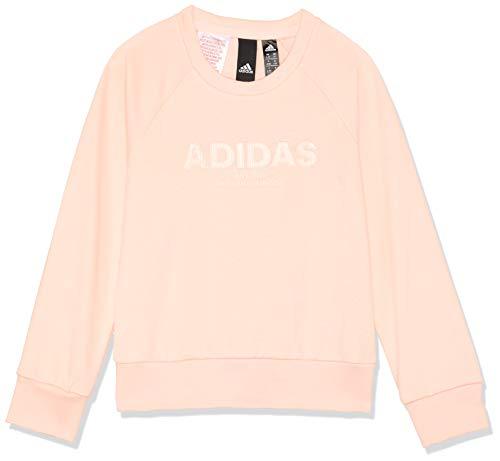adidas Mädchen Allcap Langarm Sweatshirt, Haze Coral/Clear Orange, 140