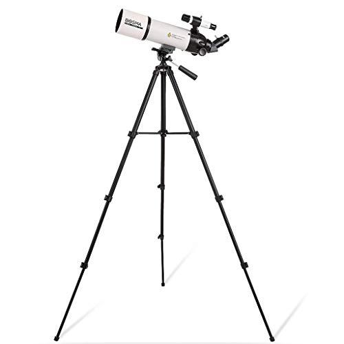 Professionelles astronomisches Teleskop - tragbares Reiseteleskop mit verstellbarem Stativ/Telefonadapter - 80 mm Öffnung, 400 mm astronomische Brechung Teleskop-Teleskop für Erwachsene und Kinder