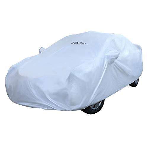 Amazon Brand - Solimo UV Protection & Dust Resistant Car Cover for Honda City 2020 (Silver)