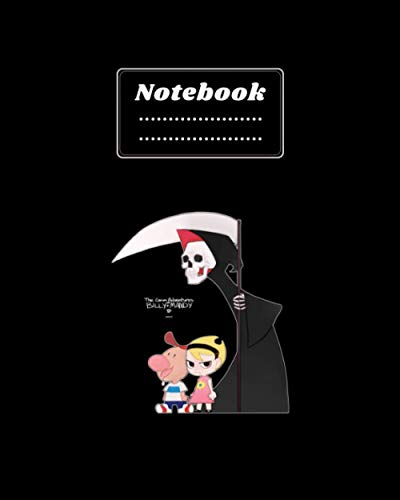 NoteBook: The Grim Adventures of Billy & Mandy Notebook for school kid - Size (8 x10) With Lined and Blank Pages - Perfect for Journal - Doodling - ... Gift For Kids .College Ruled Lined Pages Book