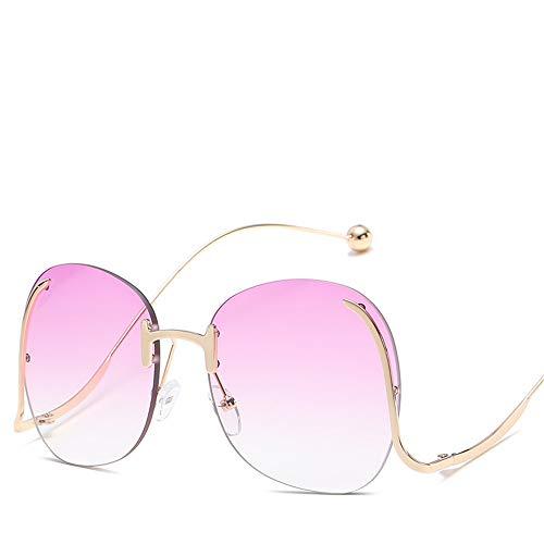 DURIAN MANGO Modische Ocean Lens Sonnenbrille mit unregelmäßiger Persönlichkeit und großem Rahmen,style7