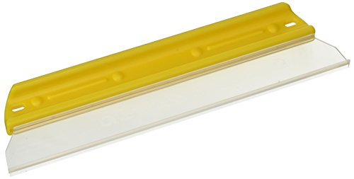 """One Pass Soft N Dry 11"""" Waterblade Silicone T-Bar Squeegee Yellow"""