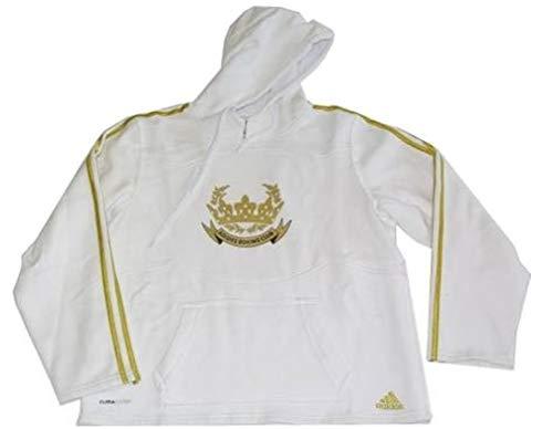adidas - Sudadera deportiva con capucha, color blanco, unisex, talla S - S