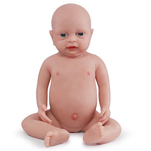 Vollence Muñeca bebé Reborn Natural de 46 cm Que Parece Real. Libre de PVC. Similar a un bebé Real Lleno de Peso. Muñeca bebé Muy Mona Hecho a Mano con Ropa – Chica