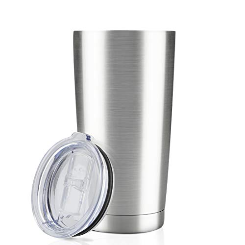 20oz Tumbler Double Wall Vacuum Insulated Coffee Mug Stainless Steel Coffee Cup with Lid, Travel Mug...