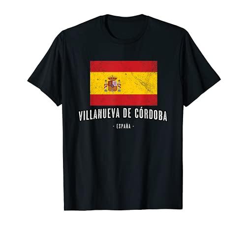 Villanueva de Córdoba España   Souvenir - Ciudad - Bandera - Camiseta