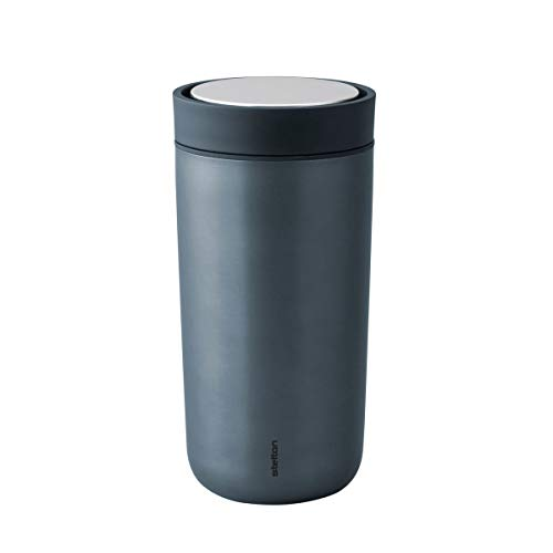 Stelton to-Go Click aus Stahl, 0.4 l. - blau metallic