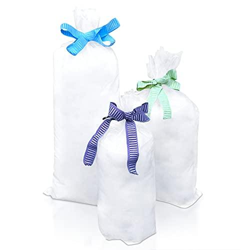DESHOME Nuvola 1 Kg - Ovatta per imbottitura cuscini, bambole, bomboniere, peluche, imballaggi, ovatta sintetica di alta qualità, lavabile, antiacaro, anallergica Made in Italy